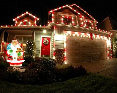 Decoraci n con luces de navidad - Decoracion luces navidad ...