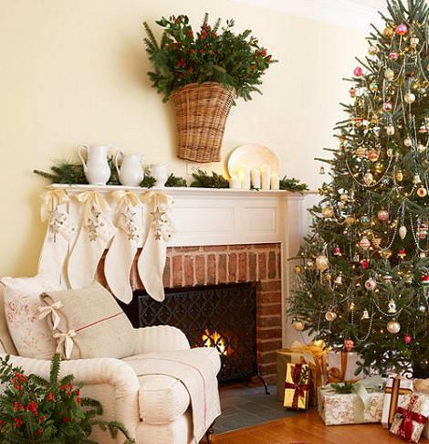 Decora tu sal n de navidad - Como decorar un salon para navidad ...
