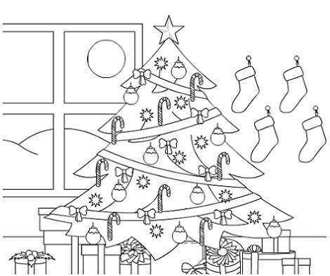 Colorear el rbol de navidad - Dibujos de navidad originales ...