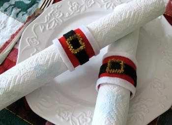 Manualidades de navidad con fieltro servilleteros - Manualidades para decorar la mesa en navidad ...