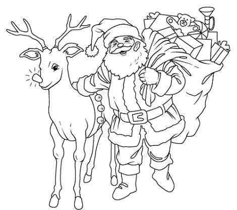 Papá Noel Con Un Reno Edudiver