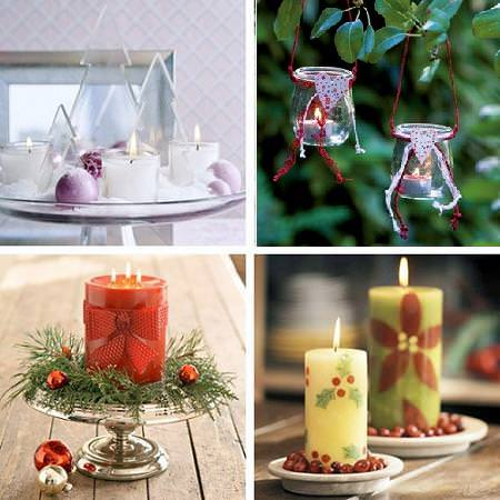 Velas de navidad - Decoracion de navidad con velas ...