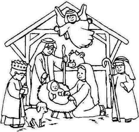 christmas belen colouring pages