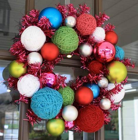 Manualidades corona de navidad - Para navidad manualidades ...