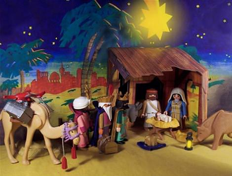 Bel n de playmobil - Decorar el belen ...