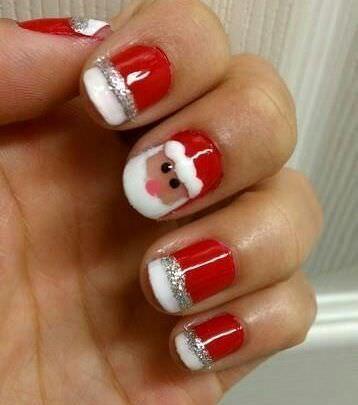 unas decoradas navidad