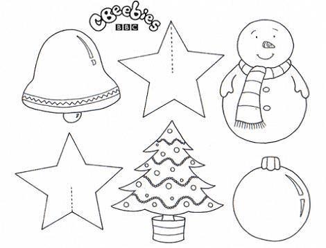 Colorear la estrella de Navidad