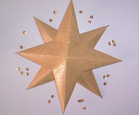 C mo hacer una estrella de navidad - Manualidades de estrellas de navidad ...