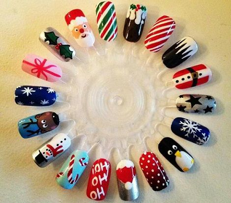 Ideas para decorar tus u as esta navidad 2013 for Decoracion de unas para navidad