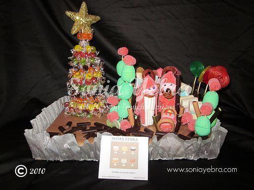 Manualidades de navidad con gominolas - Belen navidad manualidades ...