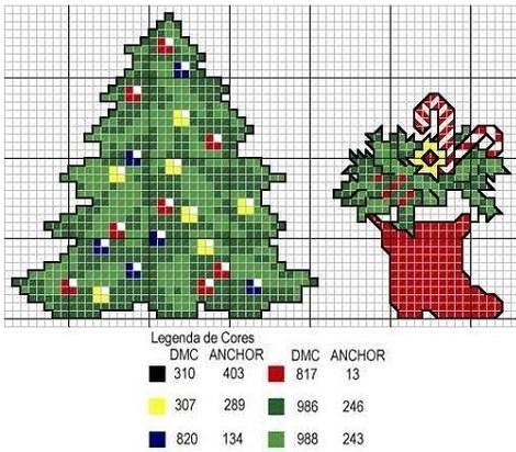 patrones-punto-de-cruz-navidad ...