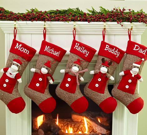 Calcetines de navidad manualidades