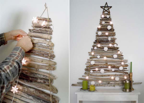 Ideas para hacer un rbol de navidad original - Arbol de navidad hecho de luces ...