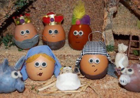 belenes originales huevos