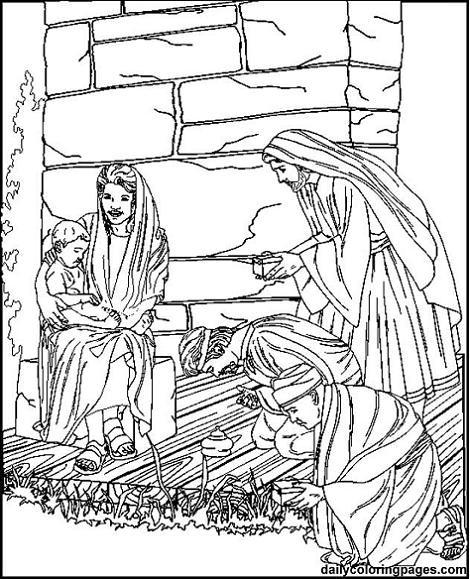 Colorear imágenes de los Reyes Magos