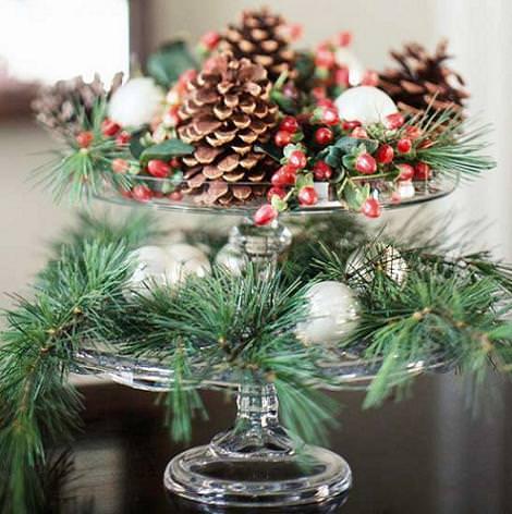 decoracion mesa navidad