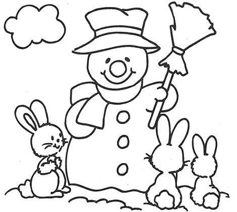 dibujos navidad muñeco nieve