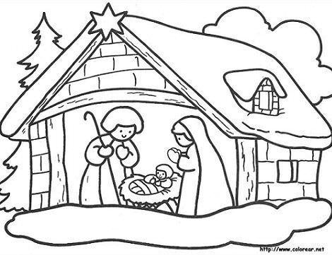 dibujos navidad portal belen