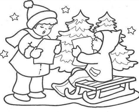 dibujos navidad villancicos