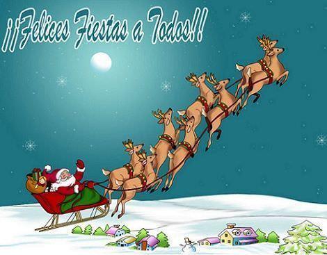 postales navidad trineo