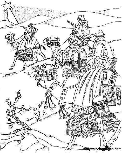 Reyes Magos en el desierto