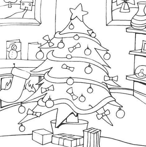 Árbol de Navidad para pintar