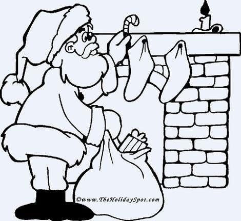 Colorear a Papá Noel