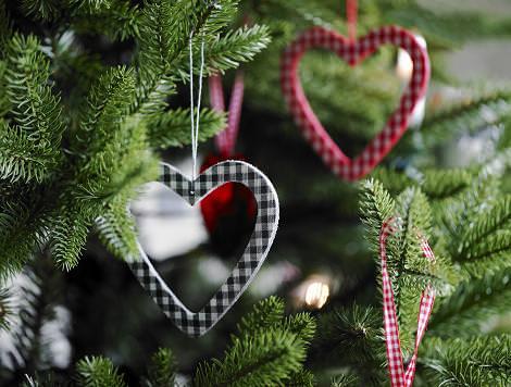 Corazones de Navidad