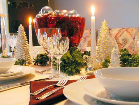 decoracion mesa navidad colores