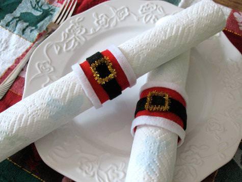 decoracion mesa navidad servilletero