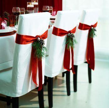 decoracion mesa navidad sillas