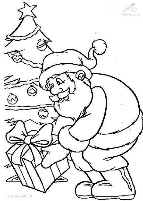Dibujo de Papá Noel para colorear