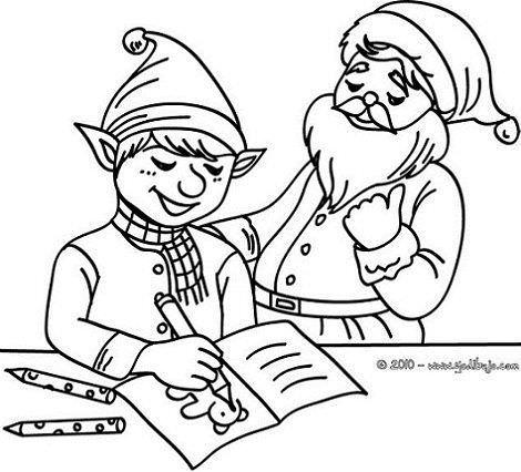 dibujos navidad colorear gratis ayudante de papa noel