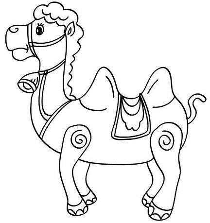 dibujos navidad colorear gratis camello