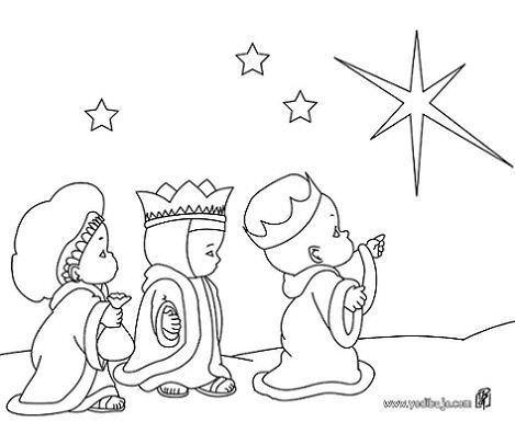 dibujos navidad colorear gratis reyes magos