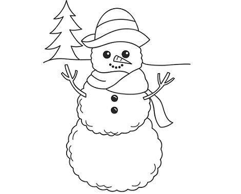 dibujos navidad colorear muñeco nieve