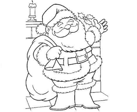 dibujos navidad colorear papa noel
