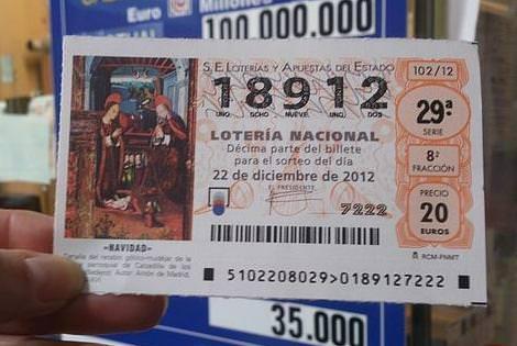 loteria navidad numeros suerte 2012