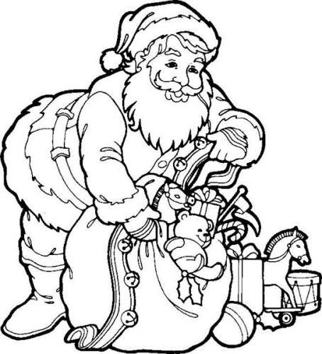 Papá Noel para colorear