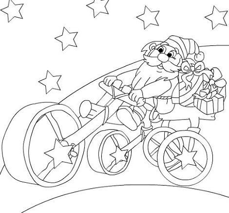 Santa Claus en moto