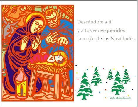 tarjetas navideñas belén