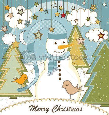 tarjetas navideñas muñeco