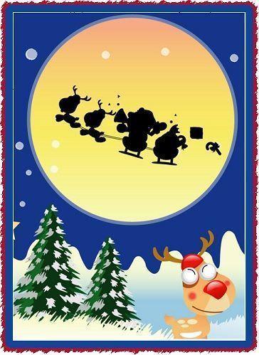 tarjetas navideñas reno