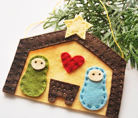 Adornos de Navidad de fieltro