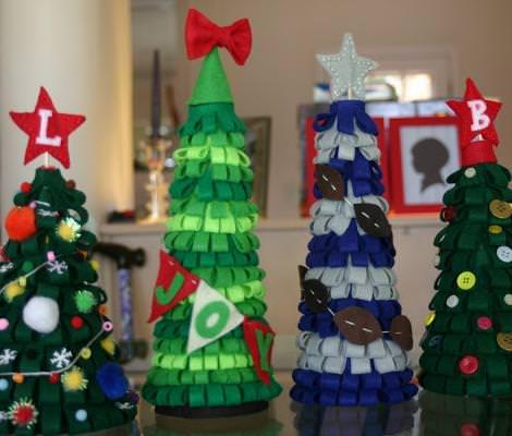 adornos navidad fieltro