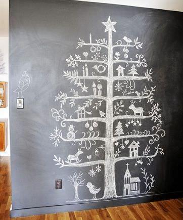 arboles navidad originales pizarra