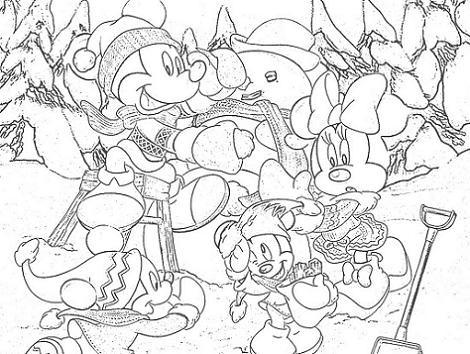 Colorear la Navidad Disney