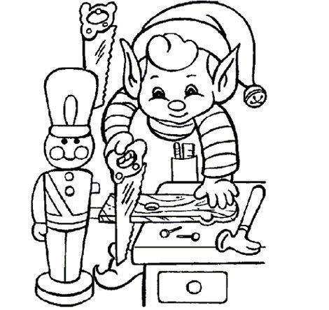 dibujos navidad colorear gratis ayudante trabajando