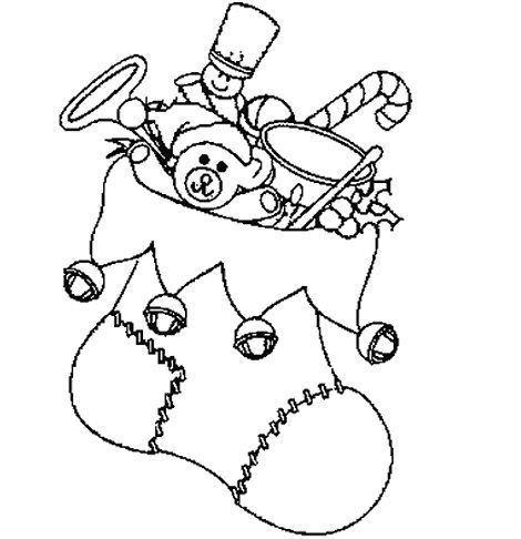 dibujos navidad colorear gratis calcetin