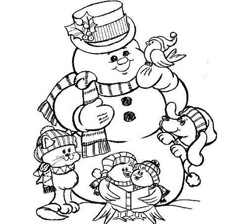 dibujos navidad colorear gratis muñeco